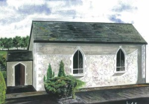 "Tempo Presbyterian Church 42x30cm 16.5""x11.75"" 16.5""x11.75""  Print £35 Original Painting Sold"