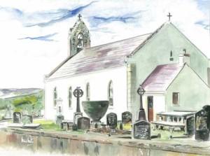 """Lettercran Chapel 1 37.5x28.5cm 14.75""""x11.25"""" Print £35 Original Painting £175"""