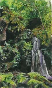 "'Sloughan Glen' 22x36cm 8.75""x14.25"" Print £35 Original Painting £250"