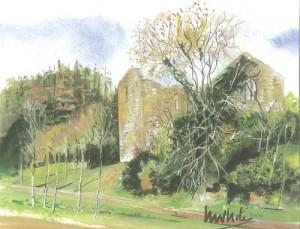 """Dromore Old Parish 19x14.5cm 7.5""""x5.75"""" Print £20 Original Painting £85"""