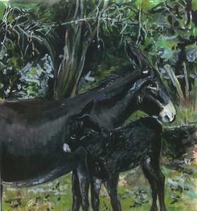 "Donkeys 26.5x29cm 10.25""x11.25"" Print £35 Original Painting Sold"