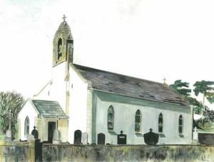 """Lettercran Chapel 2 36x27cm 14.25""""x10.75"""" Print £35 Original Painting £175"""