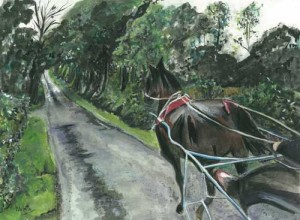 "On the Road 38x29cm 15""x11.74""  Print £40 Original Painting £200"