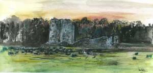 """McGrath's Castle, Pettigo 40.5x19cm 16""""x7.5"""" Print £35 Original Painting £175"""