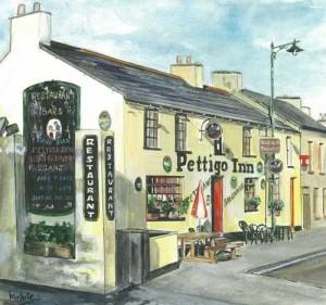 "Pettigo Inn 27x25cm 10.5""x9.75"" Print £30 Original Painting £150"
