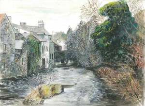 "Pettigo River Scene 1 40.5x29.5cm 16""x11.5"" Print £40 Original Painting £250"