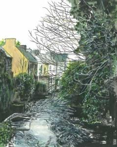 "Pettigo River Scene 2 21x23cm 8.25""x9"" Print £25 Original Painting £125"