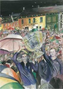 """Sam Maguire in Pettigo 2012 23x30.5cm 9""""x12"""" Print £25 Original Painting £150"""
