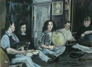 "Musicians, Grafton Street 2 38x27cm 15""x10.5"" Print £50 Original Painting Sold"