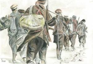 "Afghanistan 1 38x26.5cm 15""x 1.5""  Print £40 Original Painting Sold"