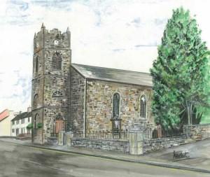 "Ballinamallard Church 35x30cm 13.75""x11.75""  Print £35 Original Painting £175"