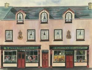 "Hannah Moohan's, Belleek 39x29.5cm 15.25""x11.5""  Print £40 Original Painting £175"