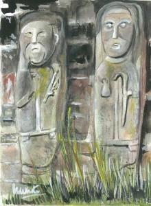 "White Island Figures 15x20cm 6""x8"" Print £20 Original Painting Sold"