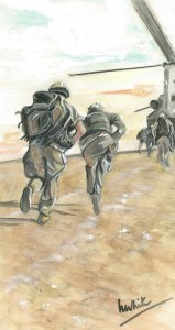 "Afghanistan 2 6.5""x12"" 16x30.5cm Print £20 Original Painting £80"