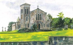 "Ederney Chapel 31.5x19.5cm 12.5""x7.75""  Print £30 Original Painting £130"