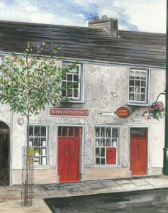 "Ederney Post Office 23x21.5cm 9""x8.5"" Print £25 Original Painting £125"