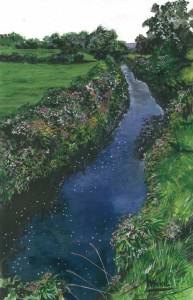 "Glendarragh River 22x33cm 8.5""x13"" Canvas Print £35 Original Painting £175"