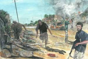 "Libya 57x39cm 22.5""x15.25"" Print £60 Original Painting Sold"