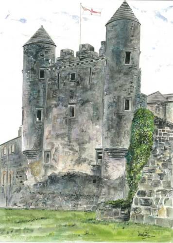 """Enniskillen Castle 28.5x40cm 11.25""""x15.75""""   Print £40 Original Painting Sold"""
