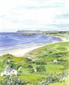 "White Park Bay 24x30cm 9.5""x11.75"" Print £40 Original Painting £275"