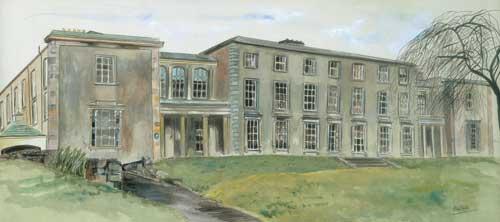 "Portora Royal School, Enniskillen 60x27cm/24""x10.5"" 30x13cm/12""x5""  Prints £50/£25 Original Painting £265 (60x27cm)"