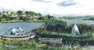 "Rossorry Quay1 26.5x14.5cm 10.5""x5.75"" Print £30 Original painting sold"