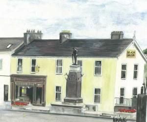 "War Memorial, Enniskillen 27.5x25cm 10.75""x9.75"" Canvas Print £30 Original Painting £150"