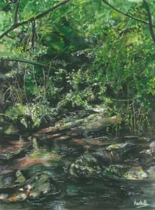 "Cladagh Glen 2 30x40cm 11.75""x15.75""  Print £65 Original Painting £325"