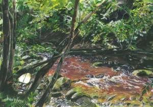 "Cladagh Glen 3 33x21cm 12.5""x8.25"" Canvas Print £35 Original Painting £230"