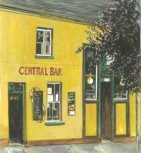 "Central Bar, Irvinestown 19.5x21.5cm 7.75""x8.5""  Print £30 Original Painting £150"