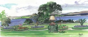 "Bantry House View 42x18cm 16.5""x7"" Print £30 Original Painting £150"