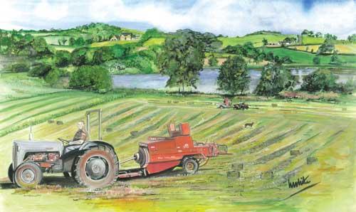 "The Haymaker 63x34.5cm 23""x13.5"" Print £65 Original Painting Sold"