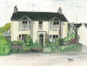 "House, Irvinestown 47.5x36cm 18.5""x14"" Canvas Print £60 Original Painting £175"