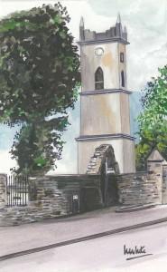 "Irvinestown Tower 2 11.5x19cm 4.5""x7.5""  Print £25 Original Painting £85"