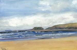 """Bundoran Strand 33x23cm 13""""x9"""" Print £30 Original Painting £150"""