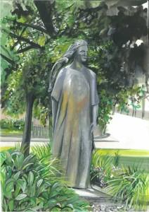 "Lady of the Lake, Irvinestown 21x31.5cm 8.25""x12.5"" Canvas Print £50 Original Painting £250"