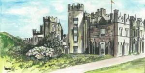 """Necarne Castle 25.5x13.5cm/10""""x5.25"""" 50x26cm/20x11"""" Prints £25/£50 Original Painting £85 (25.5x13.5cm)"""
