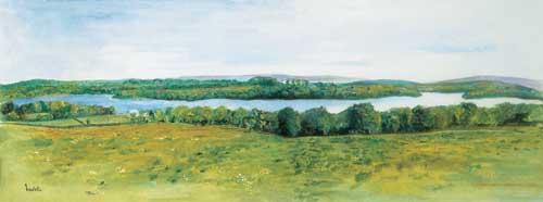 """Clareview 60x22cm/23.5""""x8.75"""" 30x11cm/11.75""""x4.25"""" Prints £50/£25 Original Painting Sold"""