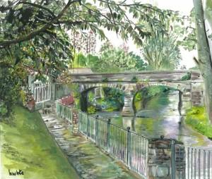 "Kesh Bridge 1 32x27cm 12.5""x10.5"" Print £35 Original painting £175"