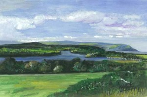 "Lower Lough Erne 22.5x14cm 9""x5.5"" Print £15 Original Painting £85"
