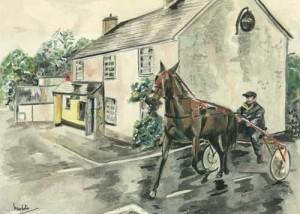 "Monaghan's the Cross 34x25cm 13.5""x9.75""  Print £30 Original Painting Sold"