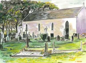 "Montiagh Chapel 37x26.5cm 14.5""x10.5""  Print £35 Original Painting £175"