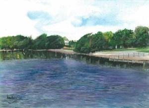 "Muckross Bay 31.5x23cm 12.5""x9"" Print £30 Original Painting £150"